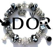 Authentic Pandora Silver Charm Bracelet With Charms Midnight Moon Ee61