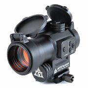 At3 Leos Red Dot Sight With Integrated Red Laser Sight And Riser