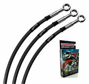 Honda Cb750 F1 Twin Disc 1976 Classic Black Stainless Std Front Brake Lines