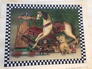 Vintage Painting Illustration Christmas Card Toys Listed Stephen Heigh