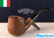 Smoking Pipes Pipe Savinelli 622 Ks Curve Briar Natural Waxed Wood Made In Italy