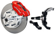 Wilwood Disc Brake Kitfrontw/wwe 2 Drop Prospindles11 Rotorsred Calipers