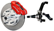 Wilwood Disc Brake Kitfrontwith Wwe Prospindles11 Rotorsred Caliperspads+