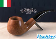 Pipes Pipe Savinelli 645 Ks Curve Briar Natural Waxed Wood Made In Italy