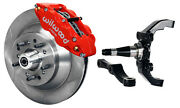 Wilwood Disc Brake Kitfrontw/wwe 2 Drop Prospindles13 Rotorsred Calipers