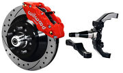 Wilwood Disc Brake Kitfrontw/wwe 2 Drop Prospindles13 Drilledred Calipers