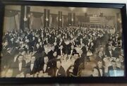 Framed Vintage Black And White Laclede Steel Company Annual Photo Memorabilia