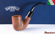 Pipes Pipe Savinelli 620 Curve Briar Natural Waxed Wood Made In Italy
