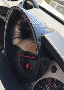 Carbon Fiber Front Center Cluster Speed Gauge Ring Cover For Nissan 370z
