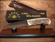 German Eye Brand Fixed Blade - Eagle 4 3/8 S/s Blade - Stag Or Wood Handles