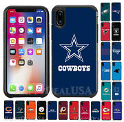 Official Nfl Pebble Grain Shockproof Cover Case For Apple Iphone X