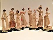 8 Marlo Collection Victorian Lady Figurines