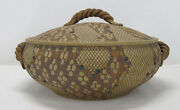 Georgia Folk Pottery Don McWhorter 1985 Snakeskin Reptile Design Covered Pot yqz