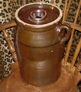 TEXAS POTTERY BUTTER CHURN CROCK STONEWARE ESTATE COLLECTION NO CHIPS NO CRACKS