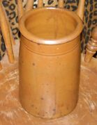 TEXAS POTTERY  CROCK STONEWARE FROM ESTATE COLLECTION BEAUTIFUL COLOR PATINA TOO