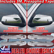 For 2016-2019 Toyota Tacoma Crew Cab Chrome Door Handle Covers No Sk+mirrors Nts