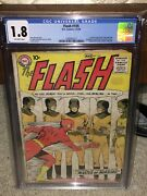 Flash 105 Cgc 1.8 Dc 1959 1st Flash And Mirror Master Justice League 112 Cm Bo