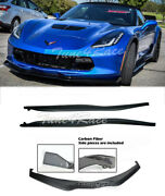 For 14-up Corvette C7 Z06 Stingray Abs Front Lip And End Cap And Side Skirts Stage 2