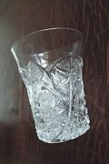 Antique Glass Tumbler With Star Design And Pinwheel Design