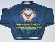 Naval Air Station Patuxent River Navy Anchor Embroidered 2-sided Satin Jacket