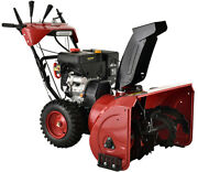 28 In. 252cc Two-stage Electric And Recoil Start Gas Snow Blower Snow Thrower New