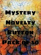 Mystery Pack 50 Random Novelty Themed Buttons For Sewing Crafting Collecting
