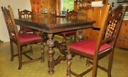 Berkey And Gay Antique Dining Table And 4 Chairs