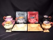 MacKenzie-Childs Hopscotch Mugs 6 Saucers/Serving Dish 6  Group of 12 Pieces
