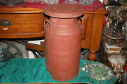 Antique Dairy Metal Milk Can Ideal Dairy Farms Union Nj Dellwood Dairy Yonkers