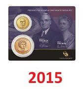 2015 Harry S. Truman 1 Coin And First Spouse Medal Set