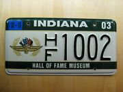 Indiana Hall Of Fame Museum License Plate Rare