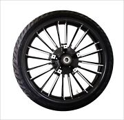 Coastal Moto 21 X 3.5 Front Black Atlantic W/ Tire Abs 8-17fl