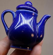Miniature Doll House Dishes Teapot Cups Fiesta Colors California Pottery Go With
