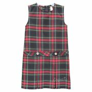 Box Pleated Low Waisted Jumper   Plaid T   Color 63
