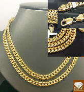 Real 10k Gold Miami Cuban Chain Bracelet Set Necklace 24 And 7.5-9 Br Authentic