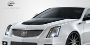 For 09-14 Cadillac Cts Carbon Fiber Cts-v Look Hood 106864
