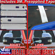 15-18 Ford F150 4dr Chrome Door Handle Covers W/sk+pillar Posts Nokp+mirrors Tow