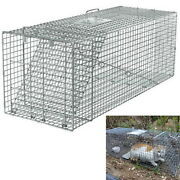 Steel Animal Trap Large Cage 6678cm Pests Rodents Rabbit Raccoon Cat Capture