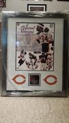 Framed, Signed Walter Payton Wall Of Fame Picture