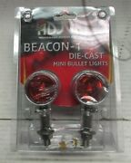 Adjure Ns12012 Amber 20w Universal Smooth Chrome Motorcycle Bullet Light 1 Pair