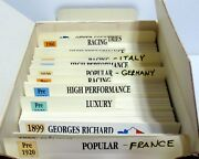 Box Lot 100's Cards Of Knowledge Autopresse Cars Italy France Germany 1898-1969
