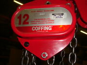 Coffing Lhh 12b 12 Ton 20and039 Chain Hoist With Option Upper Lower Snap Hooks Nos