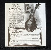 1928 Old Magazine Print Ad Gibson You Too Cay Play A Mandolin Itand039s Easy 703