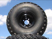 Lifted Golf Cart Tire Wheel Set Of 4 Mounted 22x11-8 With Offset Black Wheels
