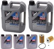 Oil Change Kit W/liqui Moly Top Tech 4605 5w-30 Full Sythetic + Mahle Oil Filter