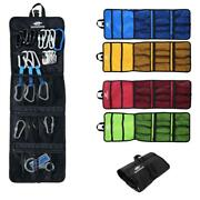 Folding Rock Tree Climbing Caving Quickdraw Sling Carabiner Collection Carry Bag