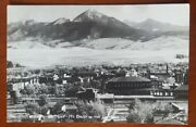 Real Photo Postcard Livingston, Montana Mount Baldy In The Distance Sanborn