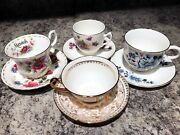 Vintage Crown Staffordshire Fine Bone Chinatea Cup And Saucer. Made In England.