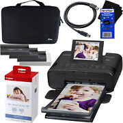 Canon Selphy Cp1300 Wireless Photo Printer + Ink And Paper + Hard Case + Usb Cable