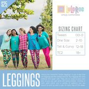 Lularoe Mystery Leggings Size Tc Lot Of 12 Assorted Colors And Patterns